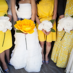 Yellow grey wedding bouquets weddinggawker yellow grey wedding bouquets mightylinksfo