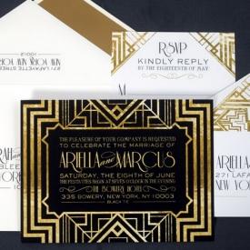 great gatsby inspired invitation weddinggawker