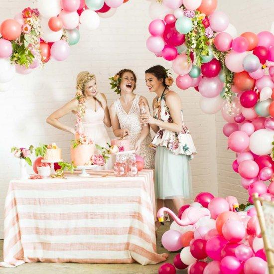 flamingo balloon bridal shower weddinggawker
