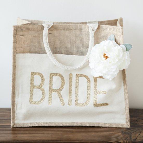Diy Glitter Bride Tote Bag