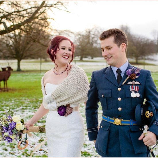 Winter Wedding At An English Manor