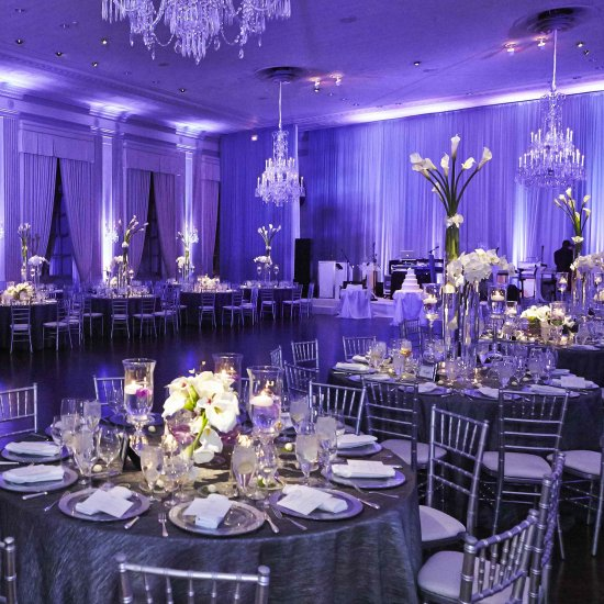 Chicago Wedding With Purple Lights