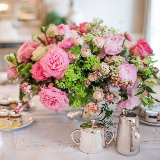 pretty bridal shower with pink details in beverly hills california inside weddings