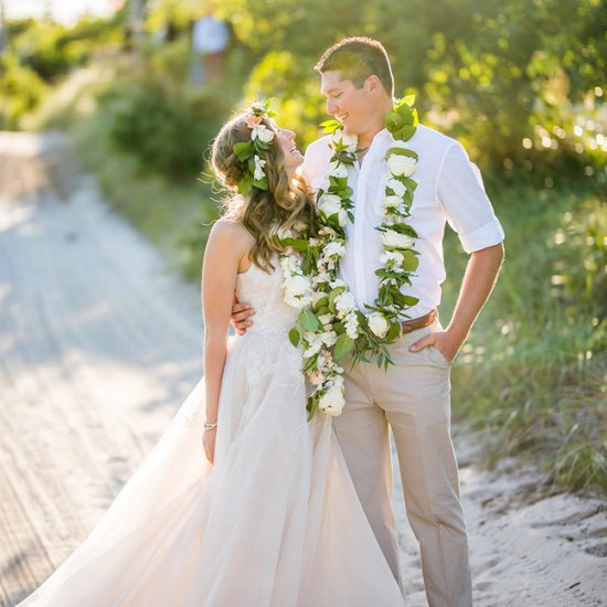hawaiian themed beach wedding | weddinggawker